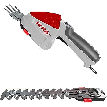 IKRA cisaille à gazon et arbuste sur batterie IGBS 1054 LI, 7,2V, autonomie max. 175 min, batterie, chargeur & sacoche inclus