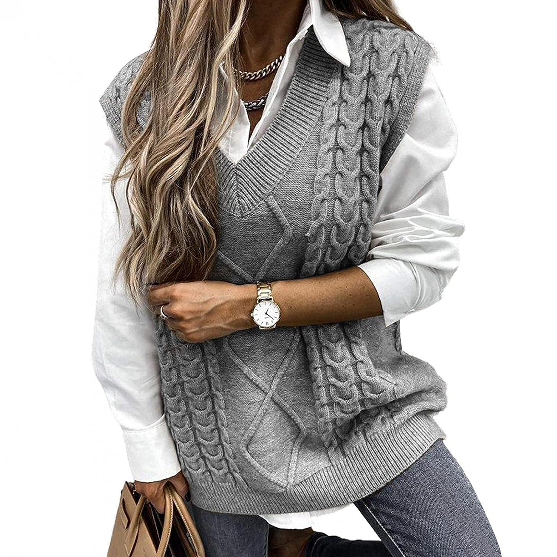 Sale price Padaleks Womens V Neck Sleeveless Block Outstanding Sweater Ve Vintage Color
