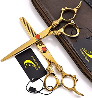 Professional Barber 6.0Inch Precision Razor Edge Offset Thinning Scissors Best for Thinning, Blending and Layering. Razor ...