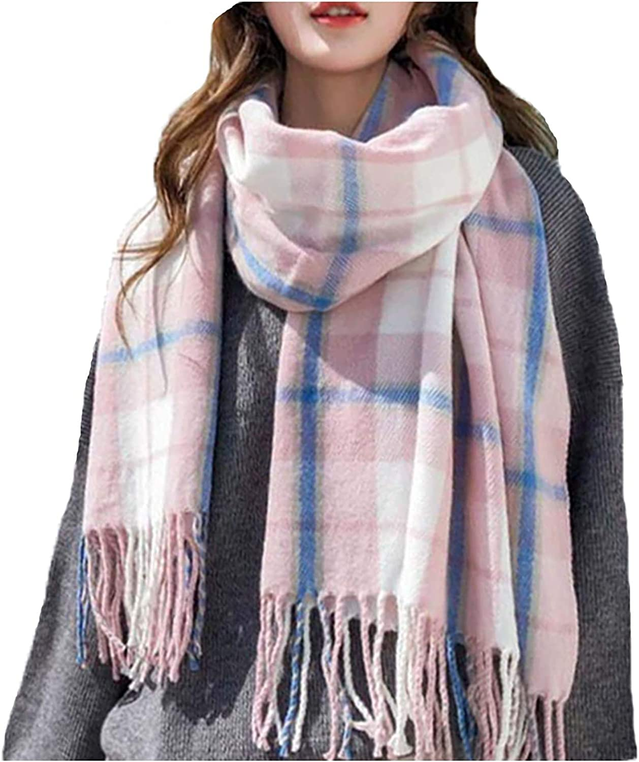 Men's Scarf Large Scarf Large Scarf MKLP Tassel Scarf Winter Ladies Scarf Large Warm Shawl Plaid Scarf Large Shawl Keep Warm and Prevent Cold For Women