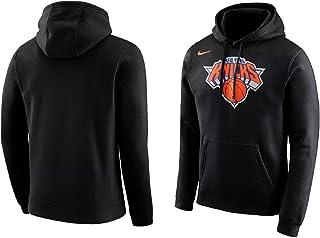 bd5588aeb2c7 Nike Men s New York Knicks Fleece Pullover Hoodie Black Orange White  881151-010