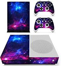 Vanknight Xbox One S Slim Console Remote Controllers Skin Set Vinyl Skin Decals Sticker Cover for Xbox One Slim (XB1 S) Console