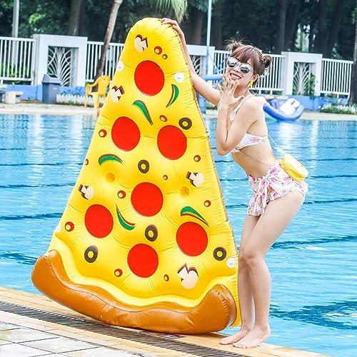 YXLZZO l'eau Gonflable Pizza Lit Flottant Piscine Multi-Personne Adulte Jouer Jouets d'eau épais Coussin d'air à La Dérive Rangée Flottante Kayak Gonflable