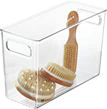 iDesign Linus BPA-Free Plastic Deep Kitchen Storage Bin with Handles, Extra Large, Clear