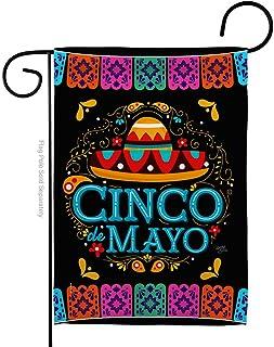 Breeze Decor Picado Cinco de Mayo Garden Flag Summer Mexican Fiesta Party Cactus PinataOutdoor Summertime Sunny House Deco...