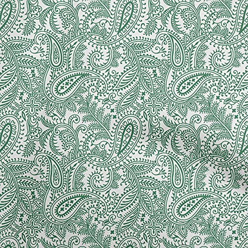 oneOone Rayon Green Fabric Block Sewing Material Print Fabric by The Yard 56 Inch Wide-D4