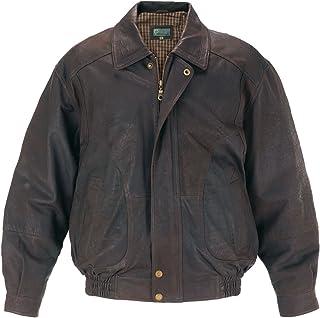 HIDEPARK 9853: Men's Brown Leather Blouson Jacket