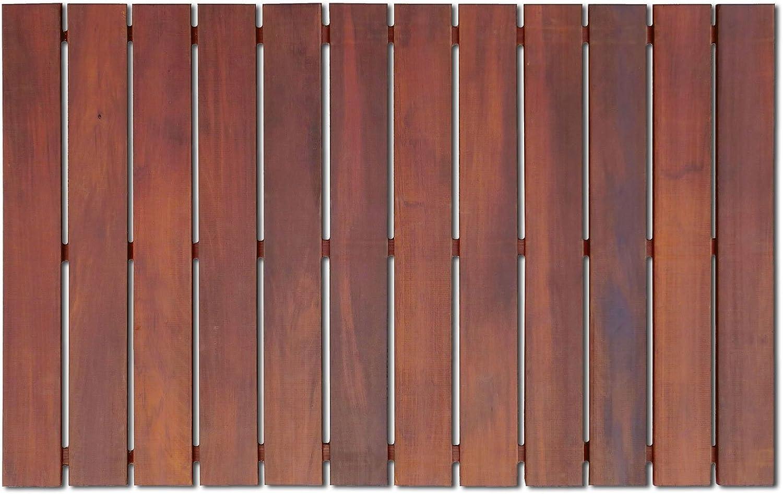 RollFloor 11111 Wooden Bath-Mat, Brown
