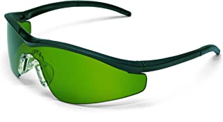 MCR Safety T11130 Triwear T1 Hybrid Temple Design Safety Glasses with Onyx Frame and 3.0 Green Lens