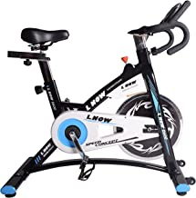 L NOW Indoor Cycling Bike, Belt Drive Indoor Exercise Bike, Stationary Bike LCD Display Heart Pulse Trainer Bike