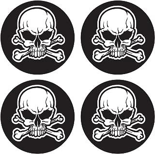 Custom Baseball Bat Decal Set - Skull and Cross bones bat knob decal stickers
