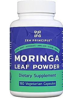 180 Capsules Organic Moringa Oleifera. Ultra-Premium. Provides an All Natural Energy Boost and Multi-Vitamin. A Raw Superfood, Vegan, No GMO and Gluten Free.