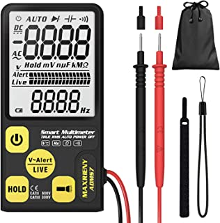 "Maxrieny 3.5"" Screen Digital Multimeter 3-Line Display 6000 Counts True RMS Auto-Ranging Voltmeter Volt Ohm Hz Continuity ..."