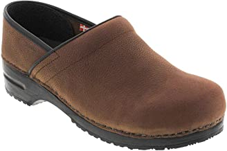 Sanita Professional Men's Oiled Leather Clogs (Factory 2nd)