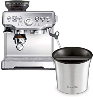 Breville BES870XL Barista Express Espresso Machine Bundle with Breville BCB100 Barista-Style Coffee Knock Box - Stainless Steel
