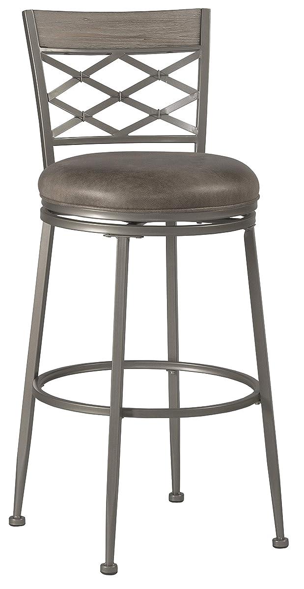 Hillsdale Furniture Hillsdale 4706-830 Hutchinson Swivel, Pewter Bar Stool, Height