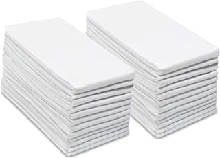 COTTON CRAFT -24 Pack Flour Sack Kitchen Towel Napkins - 100% Pure Ringspun Cotton - White - 28x28 Woven Low Lint Construction - Multi Purpose & Versatile