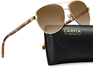 Carfia Polarized Sunglasses for Women UV Protection Outdoor Glasses Ultra-Lightweight Comfort Frame