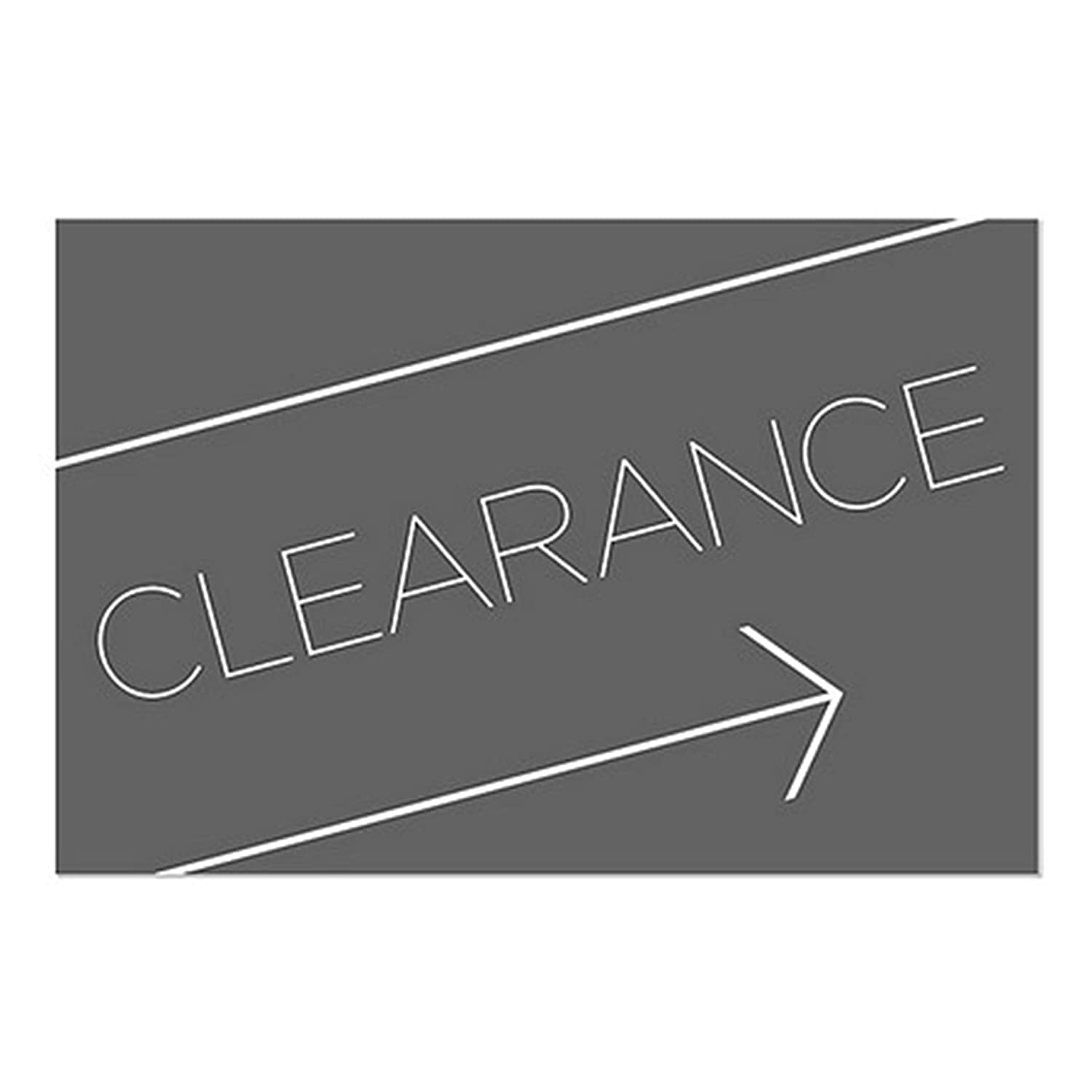 Pack of 5 Adhesive Window Decal CGSignLab 2455064/_5gfxw/_27x18/_None Clearance Vinyl Basic Black Repositionable Opaque White 1st Surface Static Cling Non 27 x 18