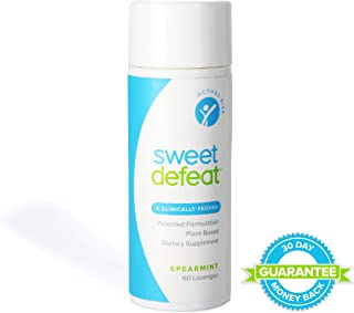 Sweet Defeat - Reduce Sugar Cravings in Seconds, Made with Natural Gymnema Sylvestre Extract That Controls and Reduces Desire for Sweet Food - 60 Lozenges … …