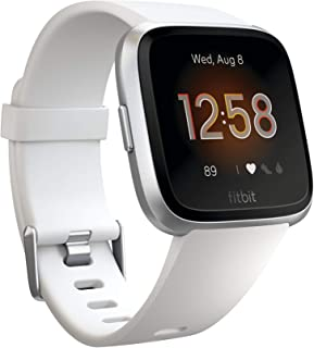 Fitbit Fitbit Versa Lite Smartwatch, White/silver Aluminum, One Size (s & L Bands Included)