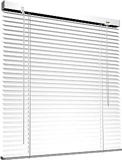 Victoria M - Persiana de aluminio, 150 x 175 cm, Blanco
