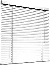 Victoria M. Store vénitien en Aluminium pour fenêtres et Portes - sans pré-perçage, Clips de Serrage Inclus - 50 x 130 cm Blanc