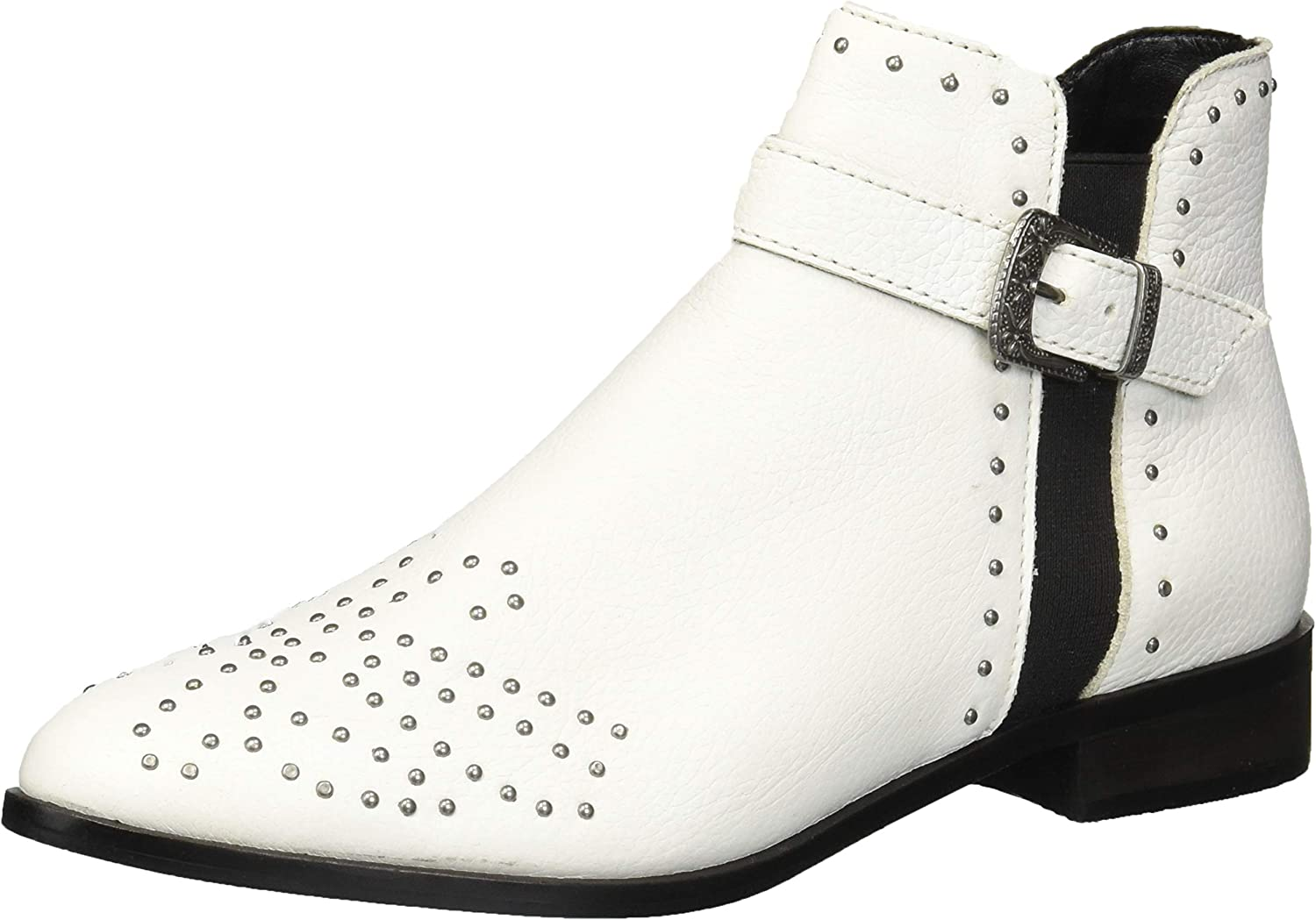 Kenneth Cole REACTION Womens Date Nite Western Studded Ankle Bootie Ankle Boot