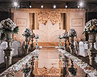 3×33 ft Wedding Decorations Mirror Aisle Runner Double Sided Silver Runner Rug for Indoor Outdoor Wedding Graduation Party Birthday