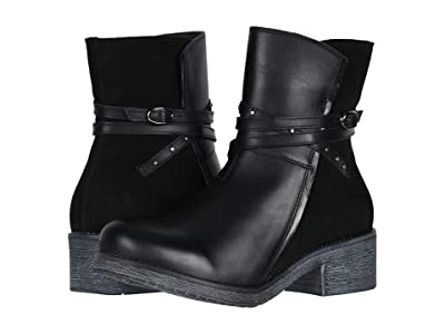 Naot Poet (Black Leather Combo/Black Suede) Women