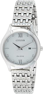 CITIZEN Womens Solar Powered Watch, Analog Display and Stainless Steel Strap - EW2530-87A