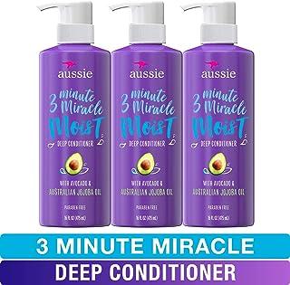 Aussie – Reparación de cabello seco – sin parabenos, sin moho, acondicionador de 3 minutos con aguacate de 3 minutos, 16 Fl Oz (paquete triple)