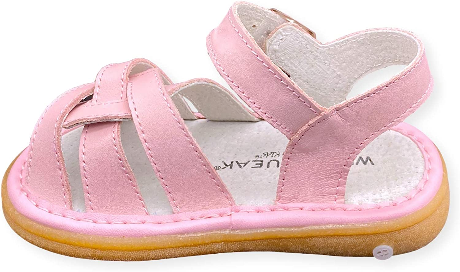 Wee Squeak Girls Toddler Squeaky Sandals with Removable Squeaker