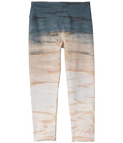 Hard Tail Flat Waist Capris (Rainbow Horizon # 54) Women