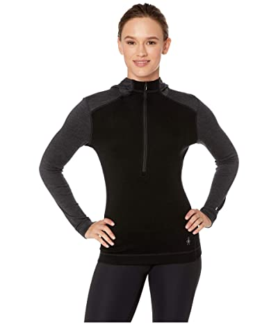 Smartwool Merino 250 Base Layer 1/2 Zip Hoodie (Black) Women