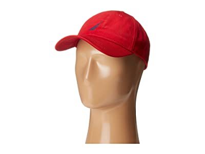 Nautica Chino Twill J-Class Cap (Deck Red) Caps