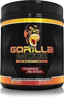 Gorilla Mode Pre Workout - Massive Pumps · Laser Focus · Energy · Power - L-Citrulline, Creatine, GlycerPump™, L-Tyrosine,...