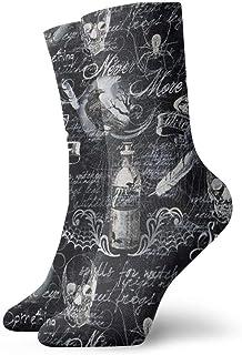 Calcetines casuales Calcetines de tobillo de Halloween Calcetines de compresión de vestido corto para mujeres Hombres