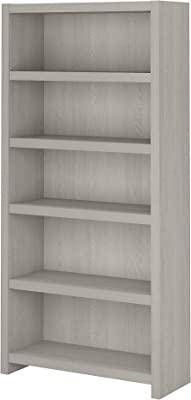Bush Business Furniture Office by kathy ireland Echo 5 Shelf Bookcase, Gray Sand