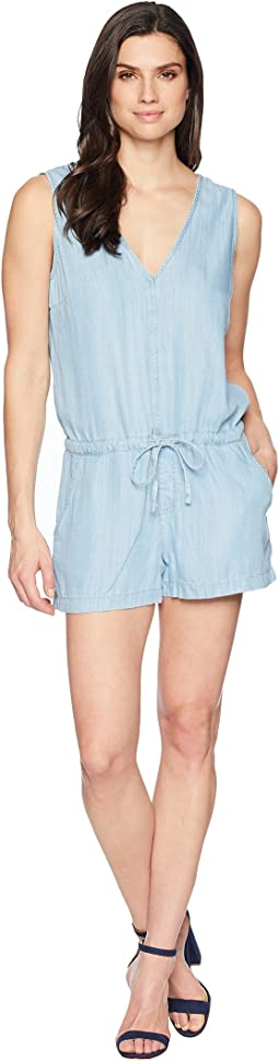 Mavi Jeans Valeria Romper in Light Bleach