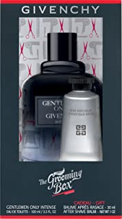 Givenchy the Grooming Box G/set w/ Gentlemen Only Intense Eau De Toilette Spray 100 Ml/3.3 Oz+after Shave Balm 30 Ml/1 Oz