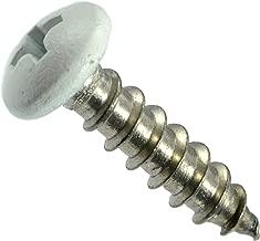 Hard-to-Find Fastener 014973208196 White Phillips Pan Sheet Metal Screws, 10 x 3/4, Piece-100