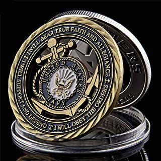 Sponsored Ad - US Navy Emblem Core Value Bronze Hollow Military Challenge Coins Collection Art Craft Collector`s Medallion...