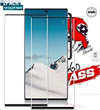 [2 Pack] Galaxy Note 10 Screen Protector,Full Coverage Tempered Glass [3D Curved] [Anti-Scratch] [High Definition] Tempered Glass Screen Protector Suitable for Galaxy Note 10