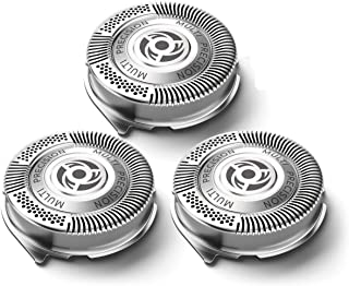 SH50 Replacement Heads for Series 5000, Razor Blades, Replacement Blades SH50/52 for S5000, Lift and Cut Sharp No Pulling Hair Shaver Heads Easy Install.