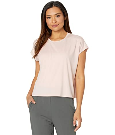 Eileen Fisher Fine Jersey Crew Neck Boxy Top (Powder) Women