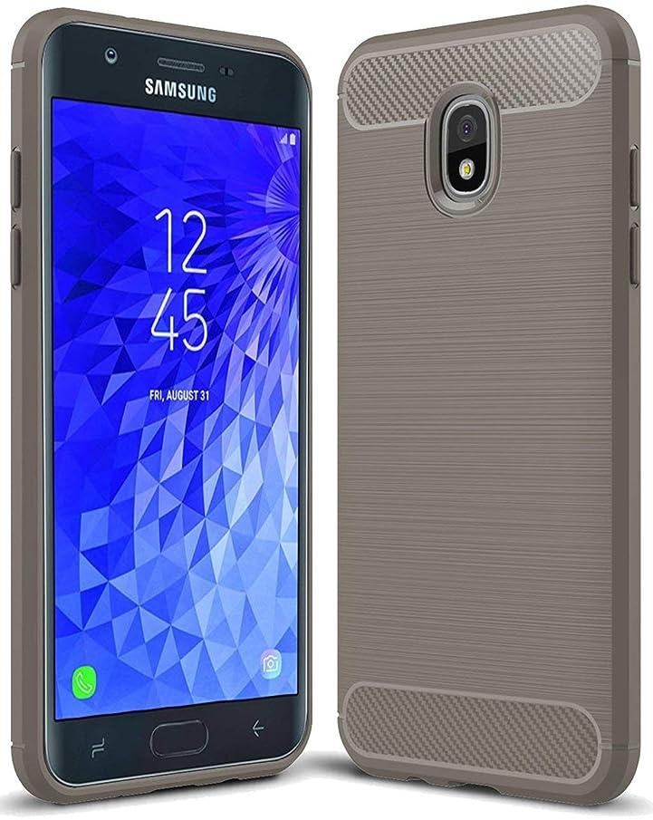 Sevencc for Samsung Galaxy J7 2018 case, Galaxy J7 V 2nd Gen Case,Galaxy J7 Refine Case,Galaxy J7 Aero,J7 Star,J7 Top,J7 Crown,J7 Aura,J7 Eon,J737V,J737T Sucnakp TPU Protective Case Cover (Grey)