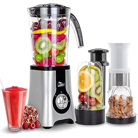 Uten Blender Smoothie 1.25L, Mini Blender, Mixeur Blender pour Milk-Shake, Jus de Fruits et Légumes, Blender Portable pour Sport, Voyage et Maison (a)