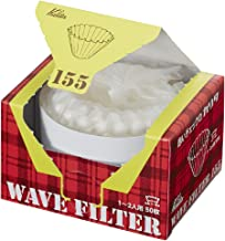 Kalita Wave Filters KWF-155 Pack of 50 Sheet White Convenient box type for taking out and storing 22211 (Japan Import) (15...