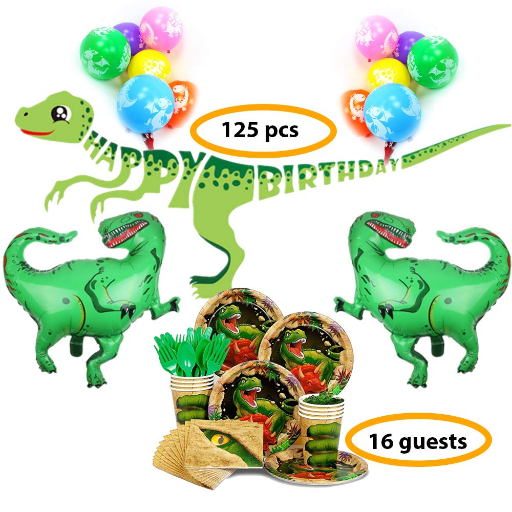 Bea's Party Dinosaur birthday decorations Dinosaur party supply Dinosaur party decorations for boys and girls Dinosaur party supplies set birthday boy decorations with dinosaur balloons